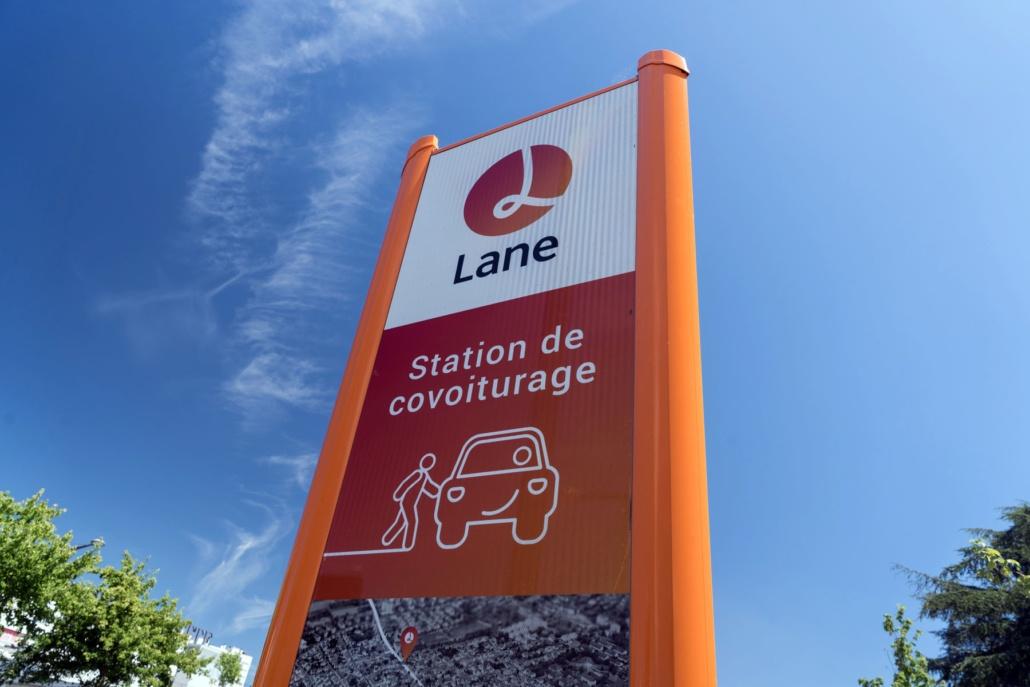 Panneau de Covoiturage Lane