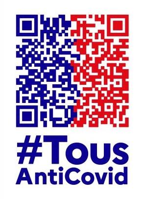 """Logo de l'application gouvernementale """"Tous Anticovid""""."""